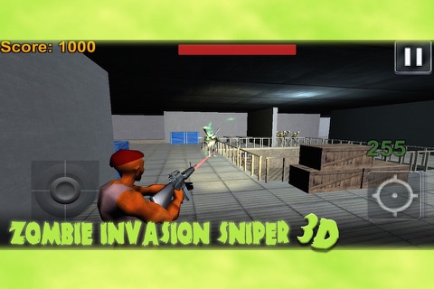 Zombie Invasion Sniper 3D screenshot 3