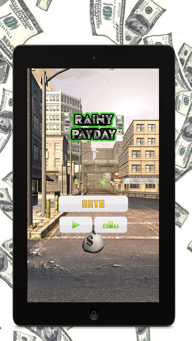 Дождливый Зарплата День (Rainy PayDay) - Играть бесплатное деньги игра, где вы должны быть очень быстрой Разбогатеть!Скриншоты 1