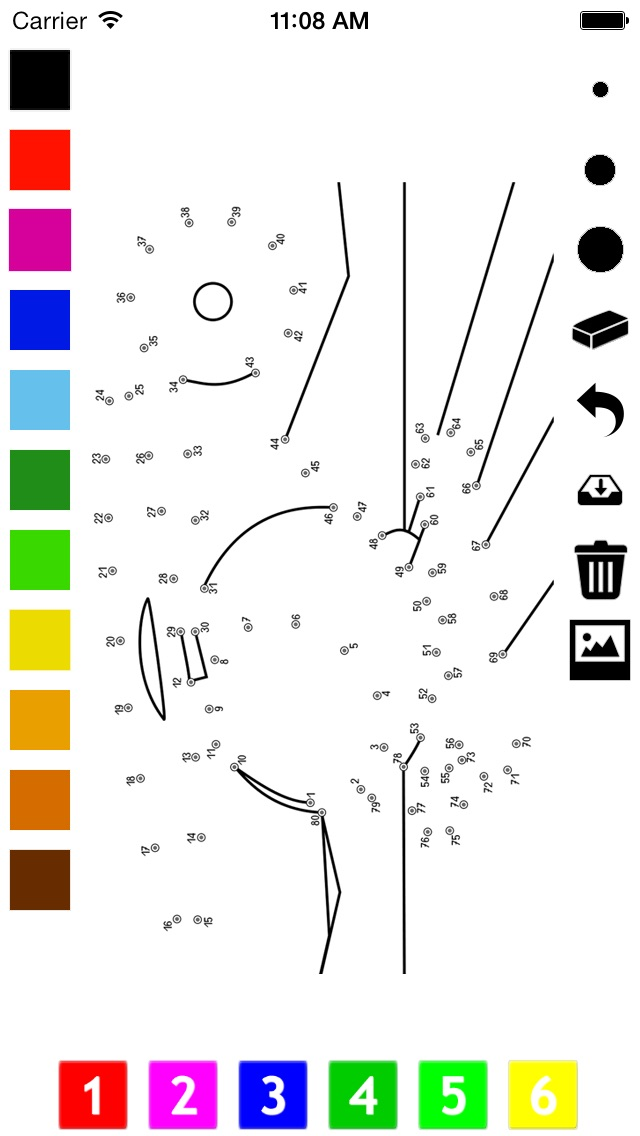 Connect the Dots Coloring Book for Toddlers: Learn to paint by numbers screenshot three
