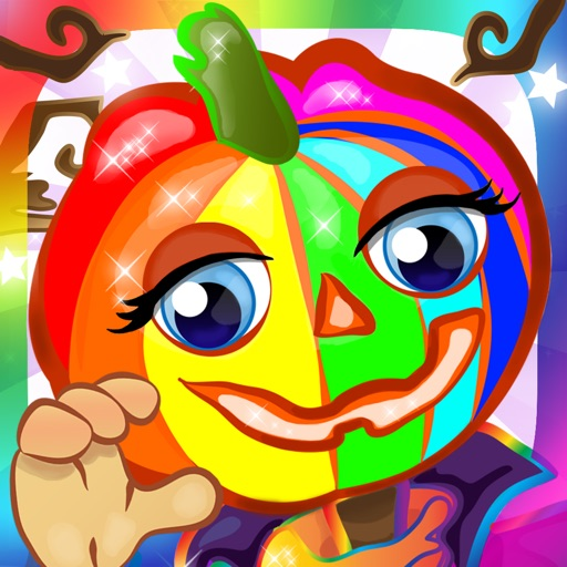 Zucche Di Halloween Cartoni Animati.Giochi Di Halloween Colouring Gioco Cartoni Animati Vampiro E