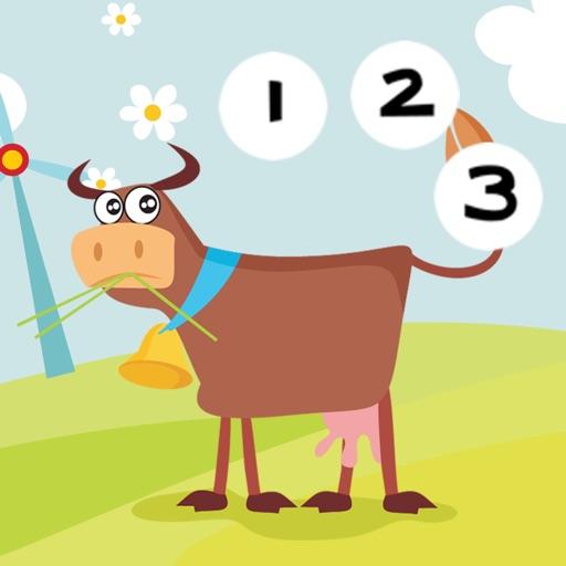 Actif! Jeux Pour Les Enfants Avec Les Animaux de la Ferme: Apprendre de Compter le Nombre 1-10