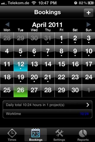 Screenshot of TimeRecorder