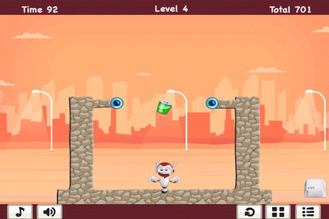 Hero Challenge - Swinging Robot Mania FREE screenshot 1