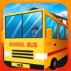 Blocky Urban City Schoolbus 3D
