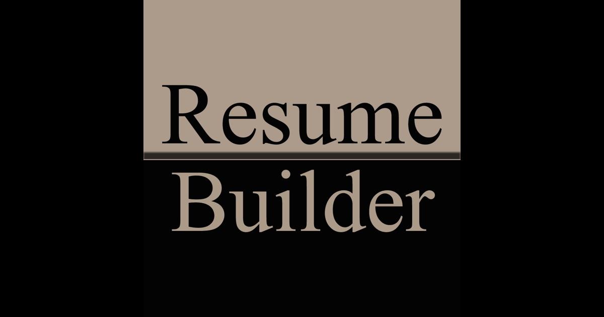 resume builder 在 app store 上的内容