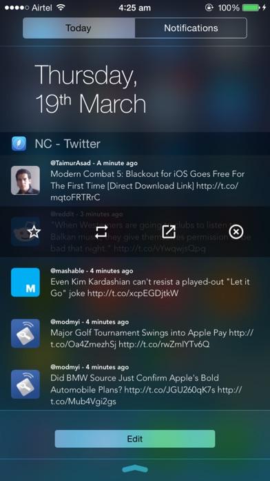 NC - Twitter Widget for Notification Center Screenshot