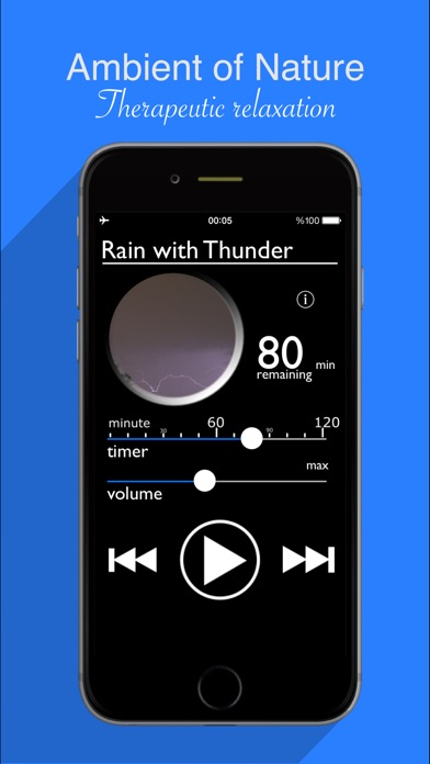 Rain Sounds : Natural raining sounds, thunderstorms, rainy ambience to help relax, aid sleep and focusScreenshot of 3