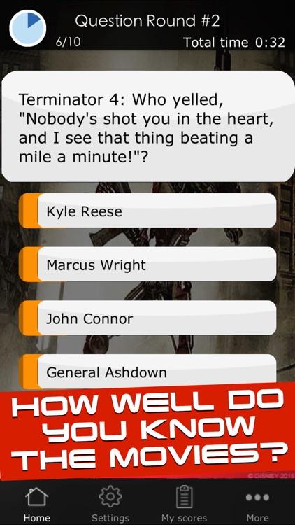 Quiz for the Terminator Movies - SciFi Trivia Game App
