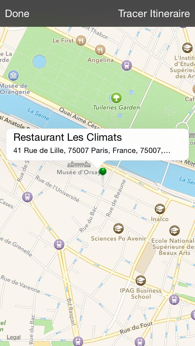Restaurant Les ClimatsCapture d'écran de 3