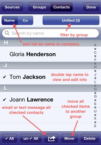 Speed Names - Contacts screenshot 2