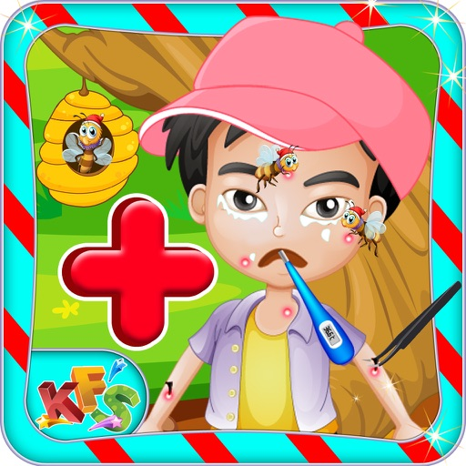 Bee Allergy Baby Skin Care – Crazy doctor & virtual hospital game for little kids iOS App