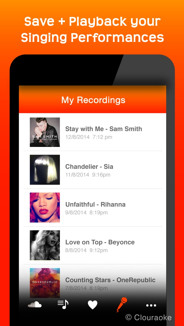 download Sing Free Music Karaoke MP3 Songs with Clouraoke - Stream Singing for SoundCloud apps 3