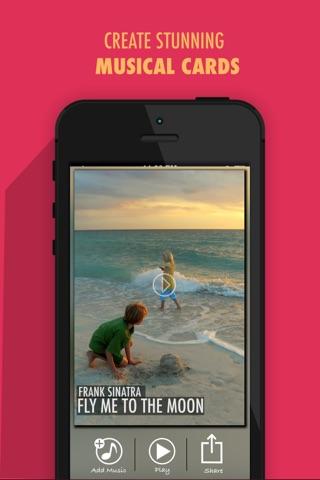 Pic Music - Create stunning musical greetings cards screenshot 1