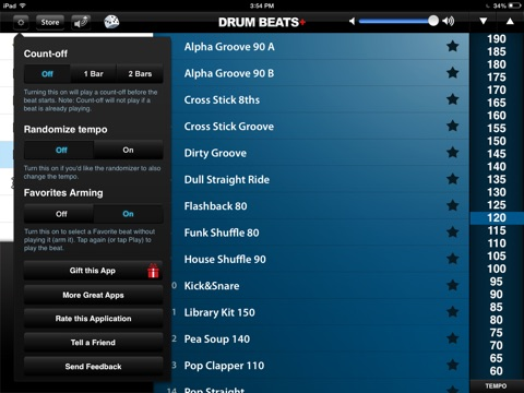Screenshot #4 for Drum Beats+ (Rhythm Metronome, Loops & Grooves Machine)