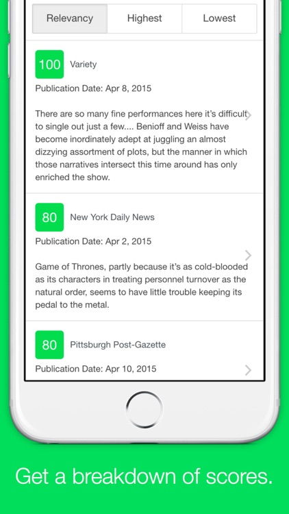 Metacritic Reviews - Unofficial Metacritic App by Jack Stone