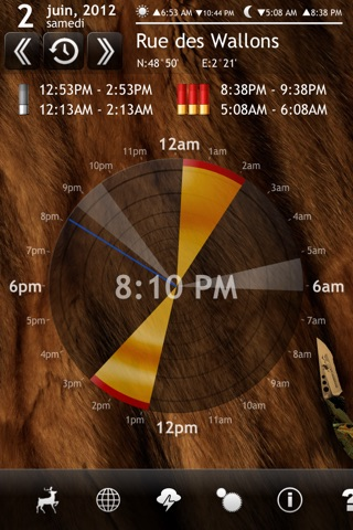 Solunar Calendar - Best Hunting Times and Feeding screenshot 1