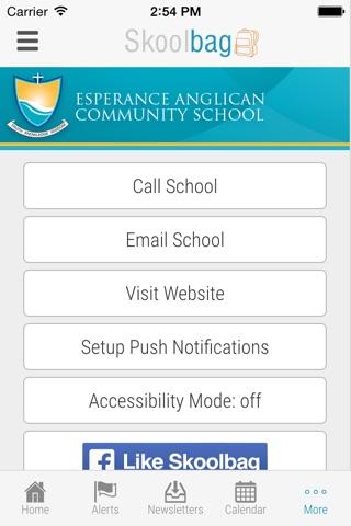Esperance Anglican Community School - Skoolbag screenshot 4