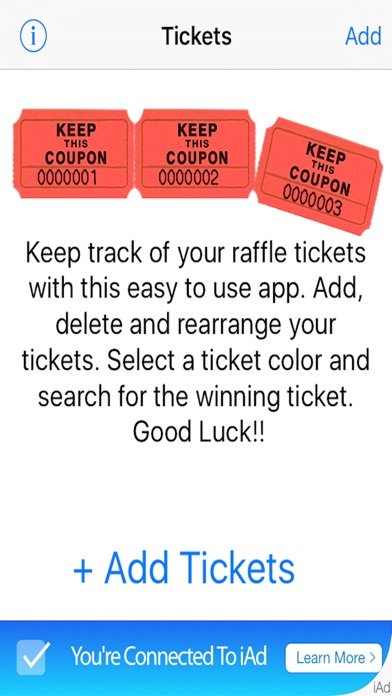 raffle ticket app