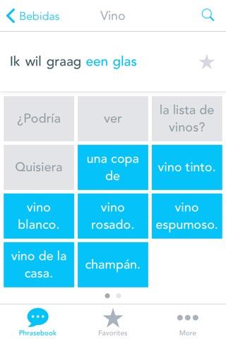 Libro de Frases con Voz del Español al Holandes: Traduce, Habla & Aprende Palabras y Frases Comunes para Viajes por el Traductor Odyssey screenshot 2