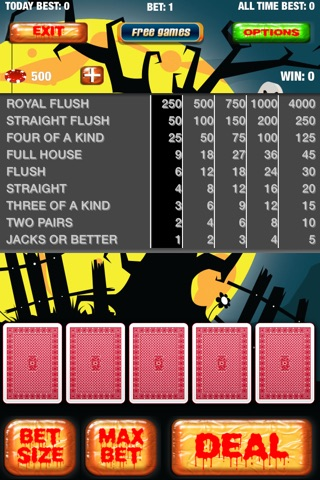 Halloween Poker Tournaments screenshot 1