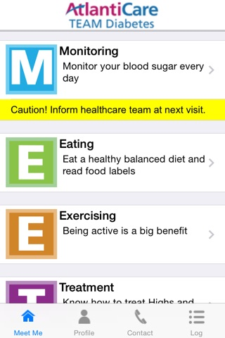 MEET ME @7 - Diabetes Self-management Tool for Patients and Caregivers screenshot 1