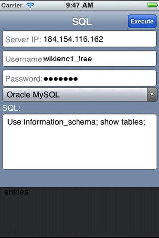 SQL Mobile screenshot 1