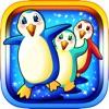 Симпатичные пингвины из северного полюса - жадные едоков рыбы