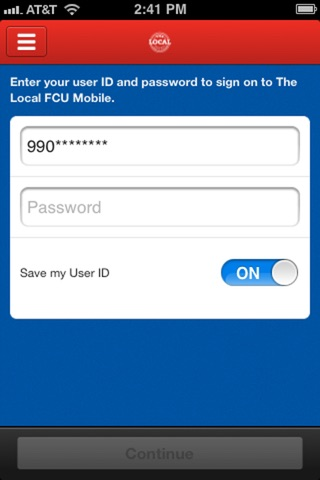 The Local FCU Mobile screenshot 1