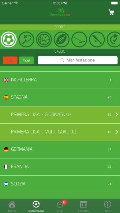 Screenshot of Venetian Scommesse Sportive5