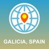 Galicia,  Spain Karte - Offline Karte,  POI,  GPS,  Wegbeschreibung