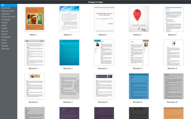 Templates for Pages by Fututime Screenshot - 3