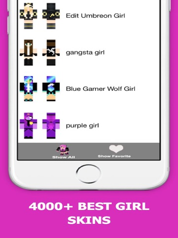 Screenshots of Best Girl Skins for Minecraft PE Free for iPad