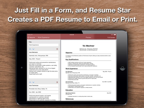 Objective Examples For A Resume Pdf Resume Star Pro Cv Maker And Resume Designer With Pdf Output To  Sample Hr Resume Pdf with Creating A Resume In Word Pdf Ipad Screenshot  Resume Writers Nj