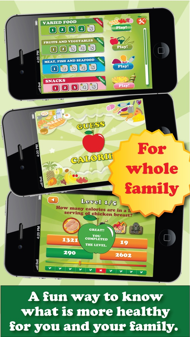 download Guess the calories - Trivia Calorie Counter , fun game app to help you lose weight fast apps 0