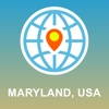 Maryland,  USA Map - Offline Map,  POI,  GPS,  Directions