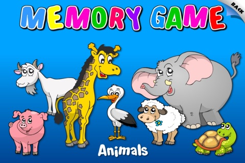 Abby - Animals - Memory Games For Kids HD screenshot 1
