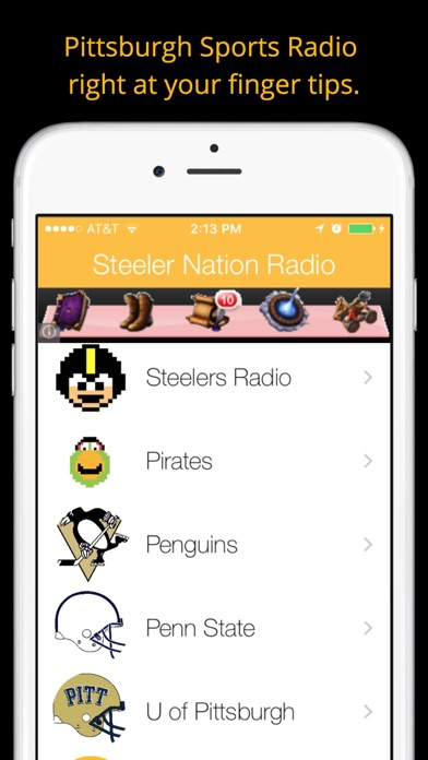Pittsburgh GameDay Radio for Steelers Pirates Pens Screenshot