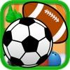 Match Ball - Tolles  3-Gewinnt Sportball-Puzzlespiel für Jungs!