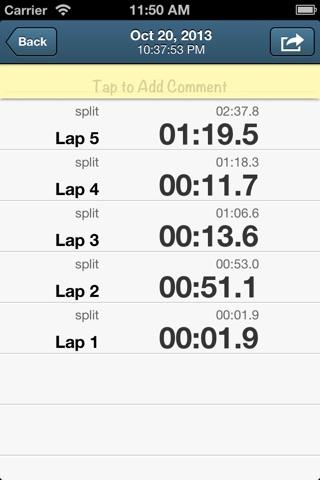 Easy Stopwatch screenshot 4