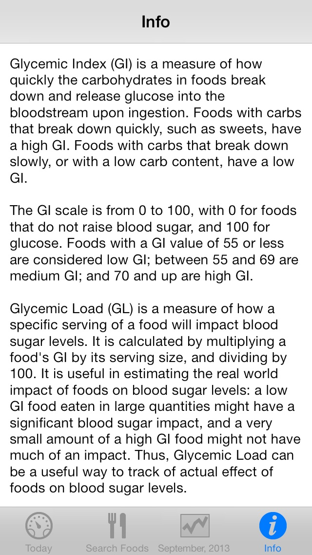 Low Gi Diet Tracker review screenshots