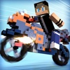 Blocky Motorbikes . Crazy GP Motorbike Racing Game for Kids Free