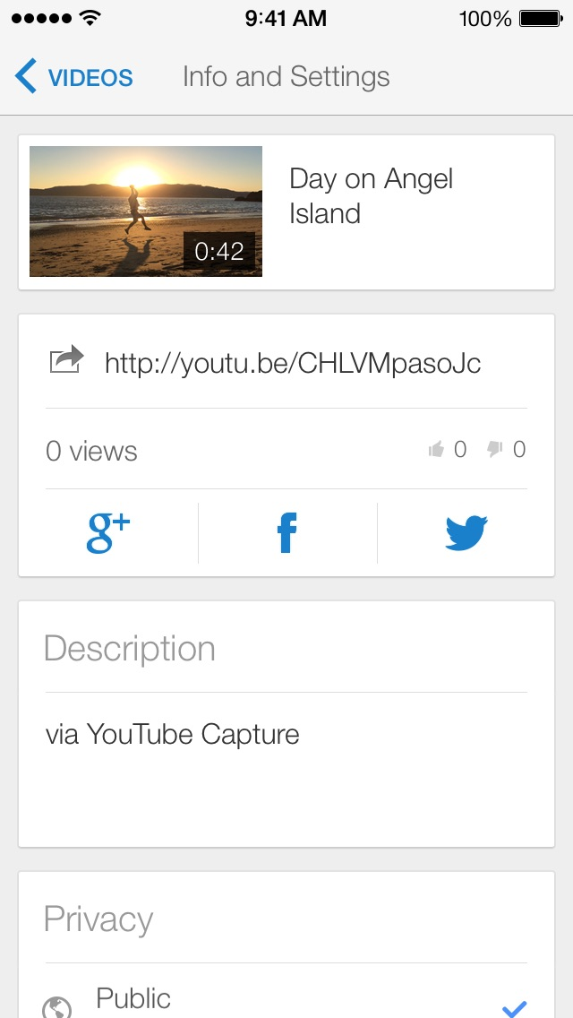 Screenshots of YouTube Capture for iPhone