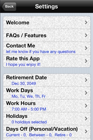 Retirement CountDown Ad Free screenshot 3