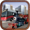 Off Road Bus & Train Racing- Drive tourist bus against fast cargo train to be the best transporter in off-raod simulation