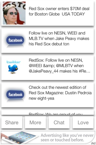 Boston Baseball 2013 Free - News, Chat, & Scores screenshot 1