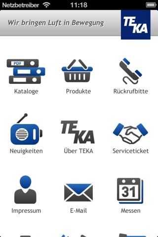 TEKA Unternehmensapp screenshot 1