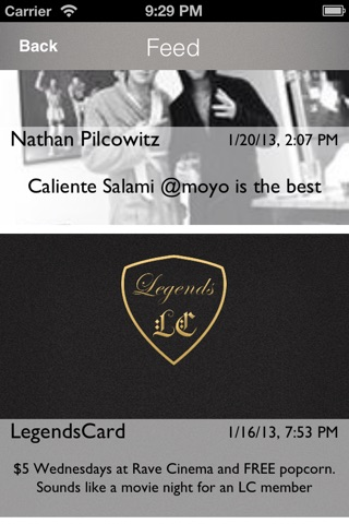 LegendsCard. screenshot 4