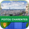 Poitou Charentes, France Map - World Offline Maps