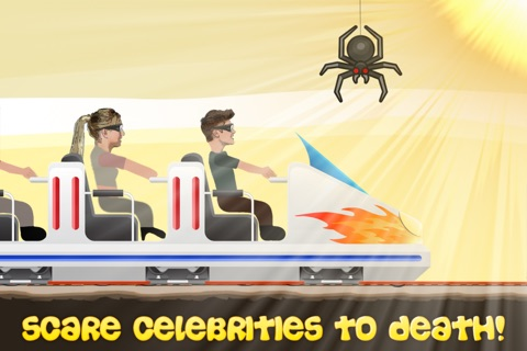 Celeb Rush - Crazy Ride with a Celebrity and the Roller Coaster screenshot 1