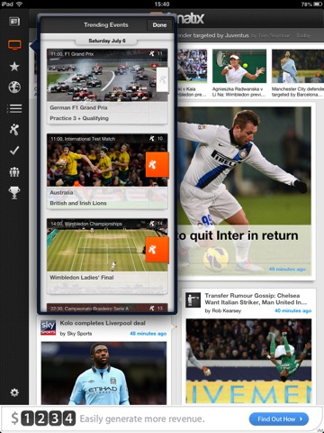 fanatix for iPad screenshot 4